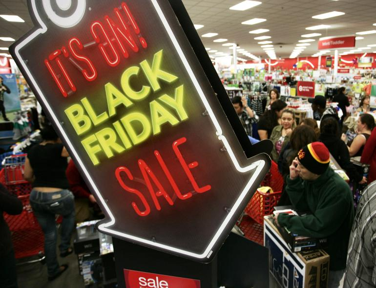 Black Friday sales at US retailer Target.