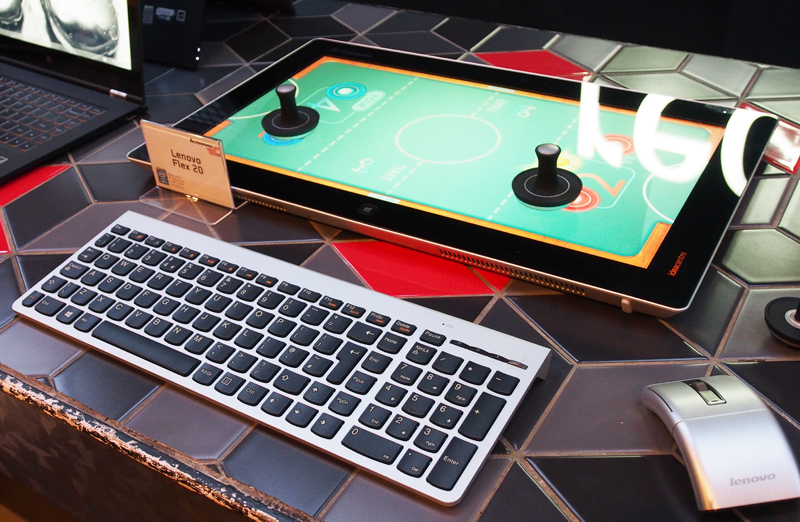 Like Lenovo's 27-inch Horizon AIO, the Flex 20 can be converted into table mode for fun multiplayer games like air hockey.