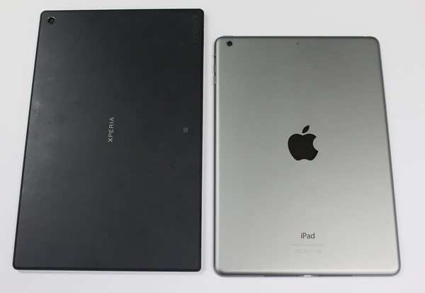 Which back looks better - the matte black of the Sony Xperia Tablet Z or the space grey aluminium of the Apple iPad Air? You decide.