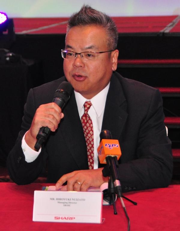 Hiroyuki Nuizato, Managing Director, Sharp-Roxy Sales & Service Company, Malaysia.