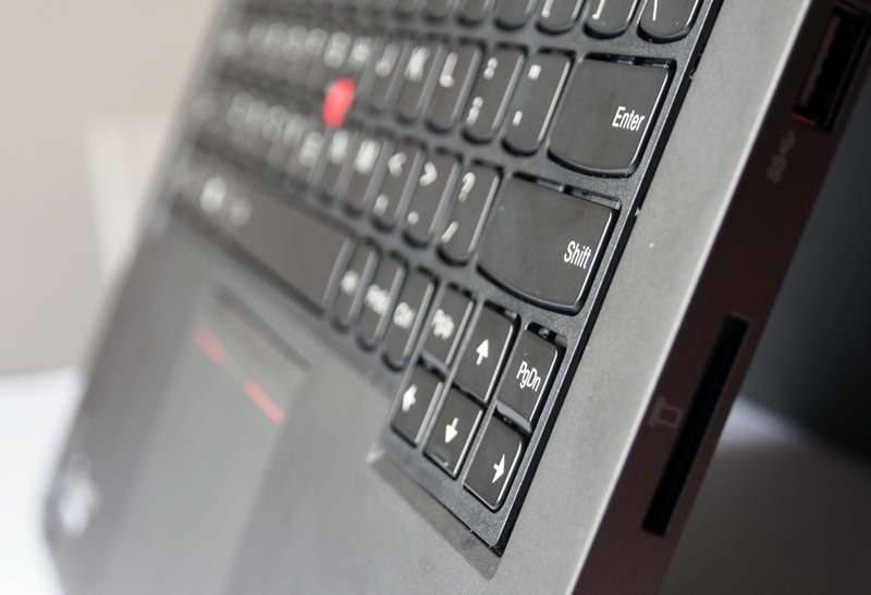 In Tablet mode, the ThinkPad Yoga's keyboard becomes completely flush, providing a more streamlined feel.