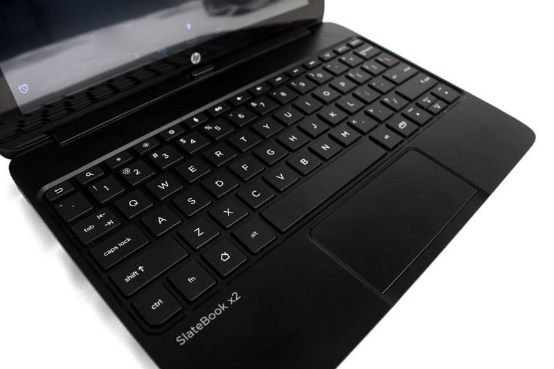 The keyboard and trackpad are actually quite good, and definitely the highlights of the Slatebook x2. However, the Android OS sees little use of the trackad as it doesn't support many of the Windows-related mouse/trackpad functions.
