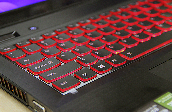 "The keyboard features red backlights, which is cool. They are quite tactile and are nice to use, but the ""Enter"" and right ""Shift"" keys should really be larger."