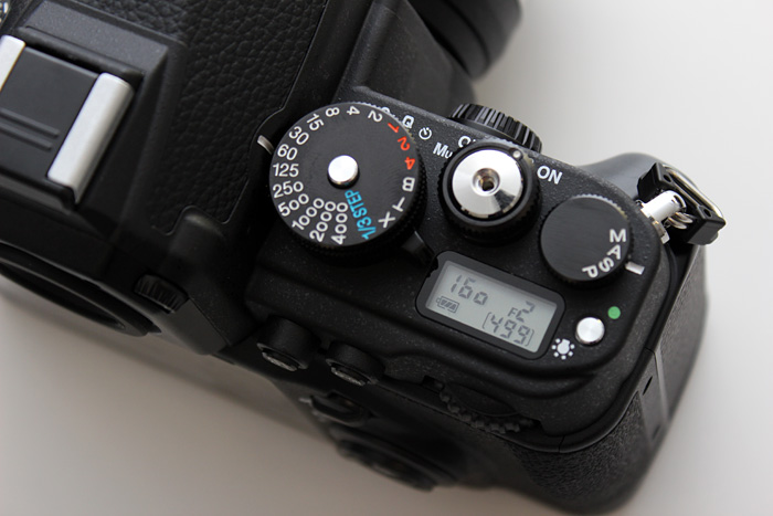 The DF has a small LED display to see settings at a glance.