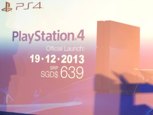 The PS4 will retail for S$639 in Singapore, making it quite a bit more expensive than its pricing overseas.