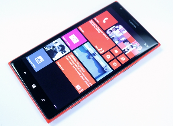 Seen here is the 6-inch Nokia Lumia 1520. Nokia is alleged to announce a 4.45-inch variant at Mobile World Congress 2014 next month.