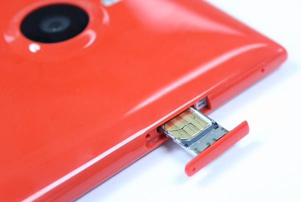 Thẻ sim camera trên Lumia 1520