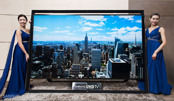 The Samsung 110S9 is the world's largest commercial UHDTV. <br>Image source: Samsung Tomorrow.