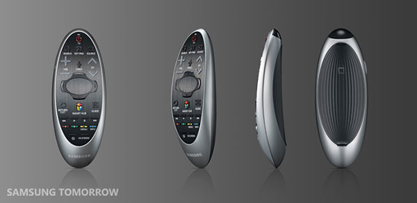 The touchpad on the redesigned remote control is actually over 80% smaller than the one on the 2013 version. (Image source: Samsung Tomorrow.)