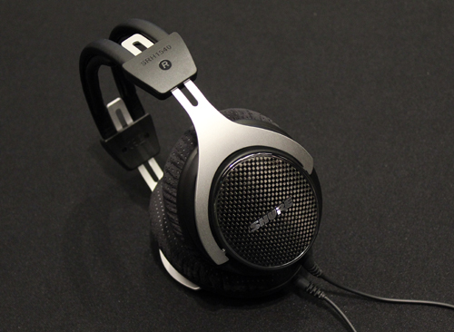 The carbon fibre ear-caps are a salient feature of the SRH1540's aesthetics.