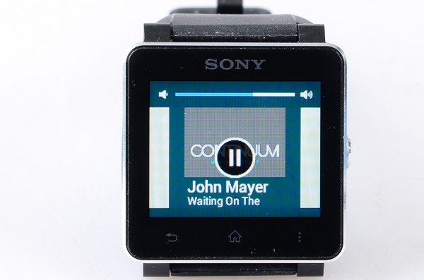 Controlling your music is made easy with the SmartWatch 2.