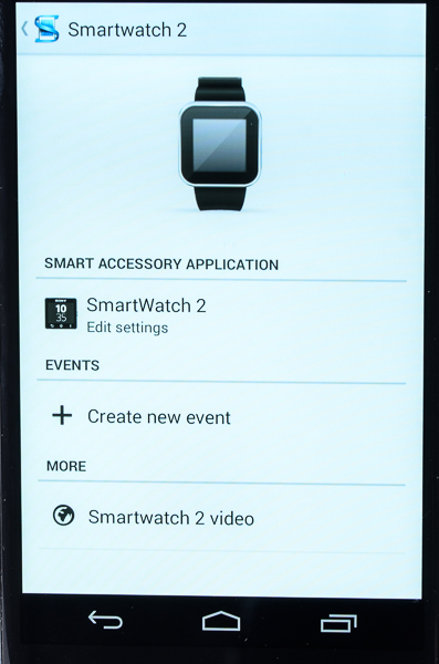 You'll need to provide permission for the SmartWatch 2 to sync with your smartphone via the Smart Connect app.