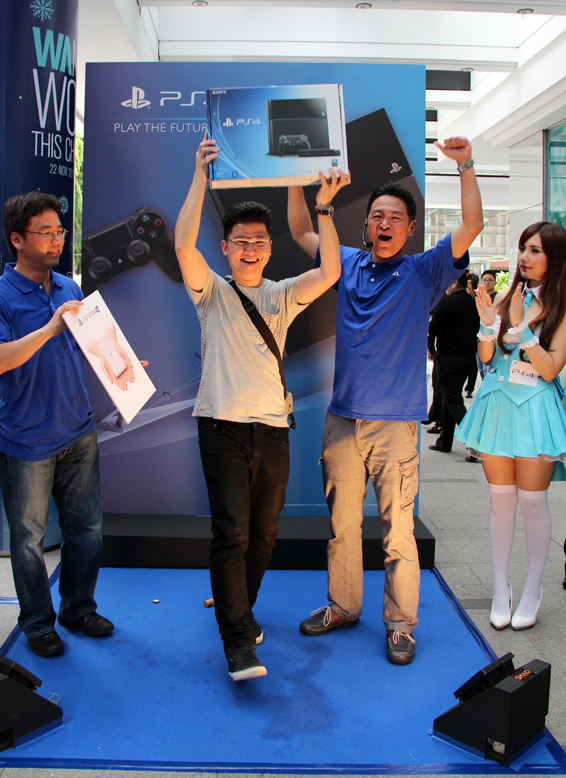 Mr. Tan also received a free PS Vita TV and a ten year membership to PS Plus.