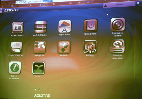 All of ASUSTOR's NAS devices come with ADM 2.0, the company's own UI.