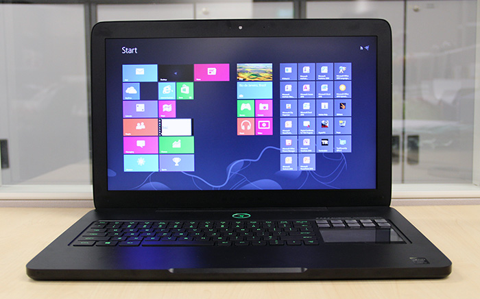The Razer Blade Pro is the slimmest and lightest notebook in our shootout.
