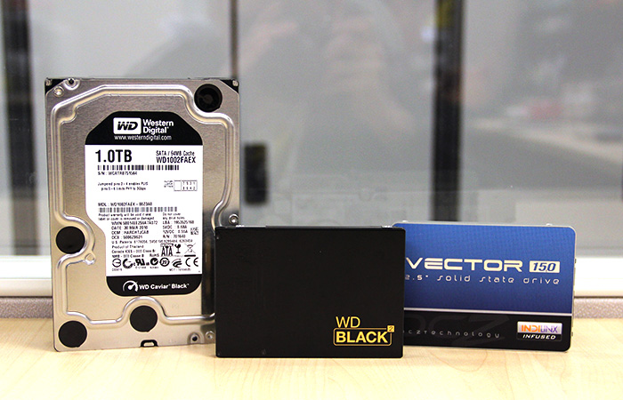 The WD Black2 combines an SSD and hard disk drive into a single 2.5-inch form factor drive.