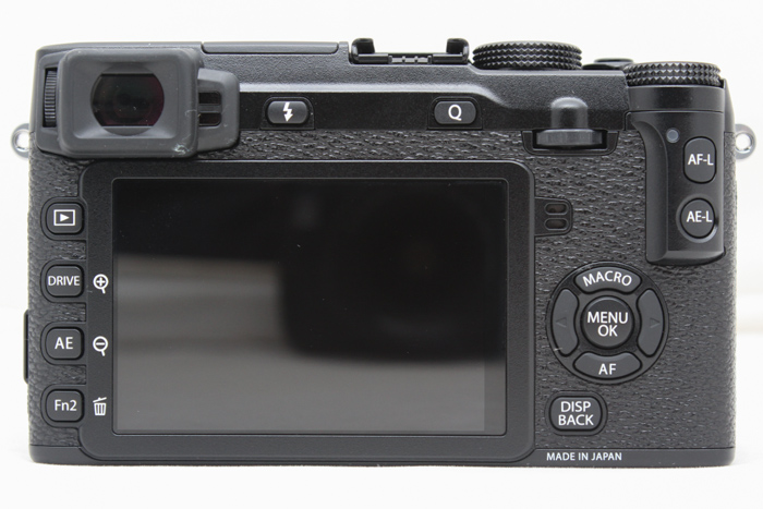 The X-E2 gives you more customizable buttons, including the Fn2 button, the AE button (above Fn2) and the AF down-arrow button.