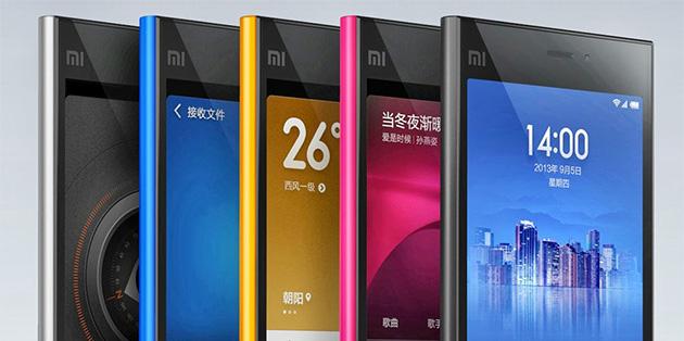 Xiaomi's Mi 3 flagship phones.