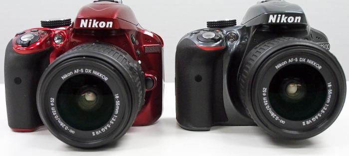 The D3300 comes in three colors ( the standard black model is not pictured here)