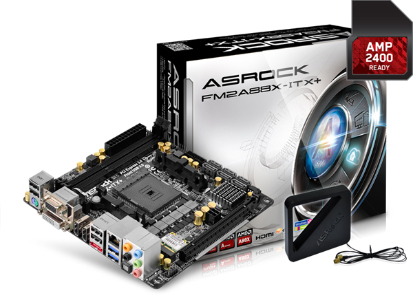 The ASRock FM2A88X-ITX+ motherboard. (Image Source: ASRock)