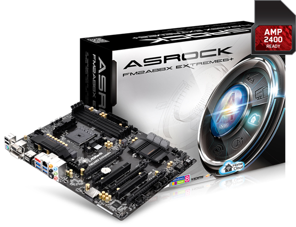 The ASRock ASRock FM2A88X Extreme6+ motherboard. (Image Source: ASRock)