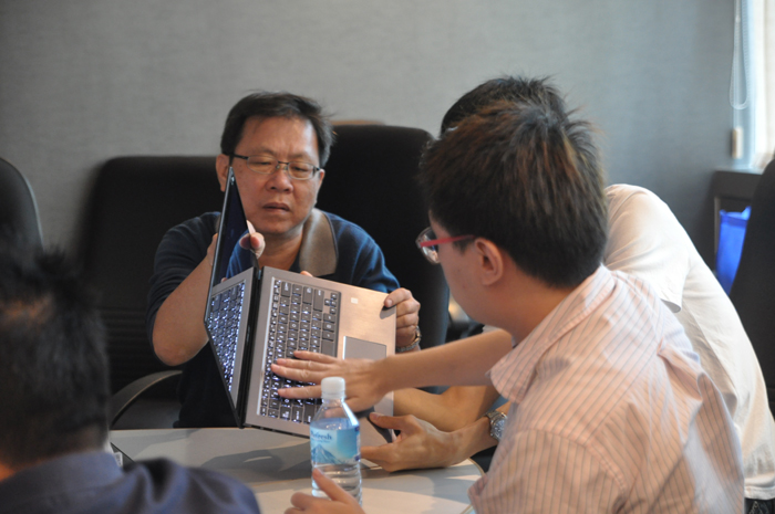 Participants were given an exclusive and intimate look at how well made the new notebooks are.