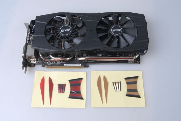 ASUS has provided both red and gold color trimmings to be attached to the Radeon R9 290X Direct CU II OC Edition.