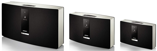 L to R: SoundTouch 30 Wi-Fi system, 20 Wi-Fi system, and Portable Wi-Fi system.