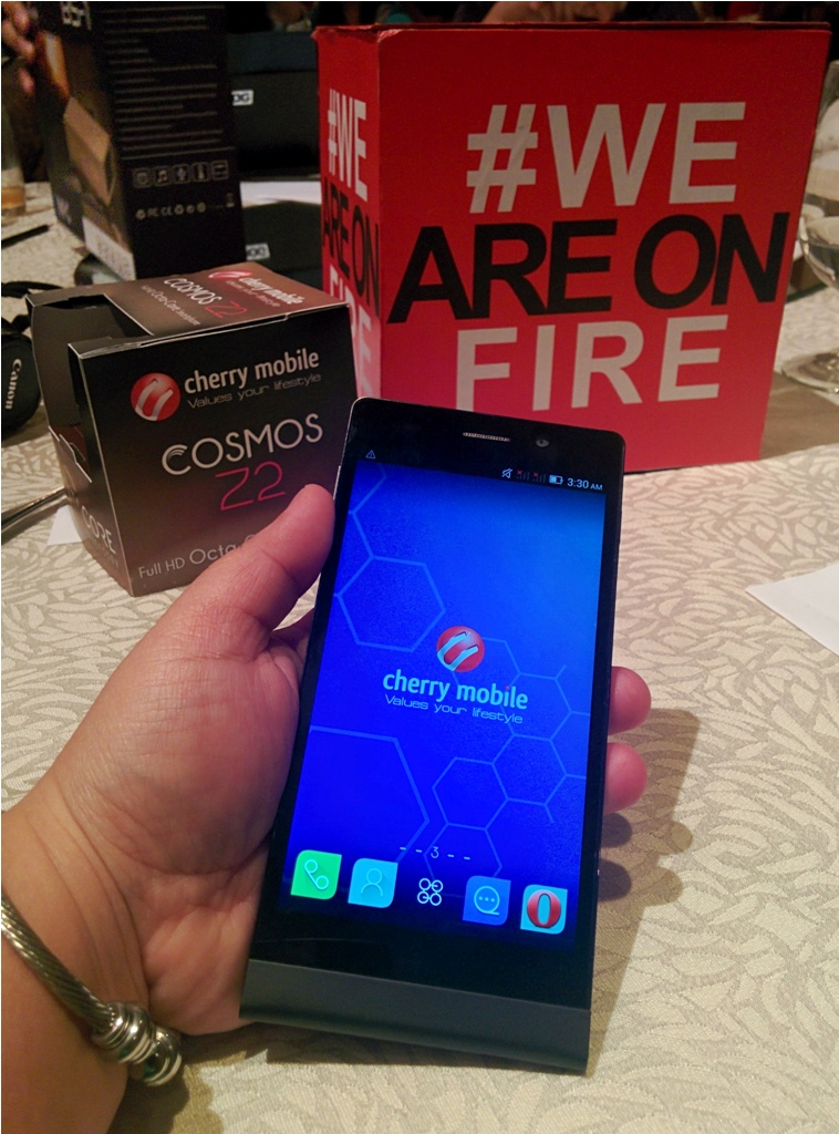 The Cosmos Z2, the first full HD octa-core smartphone from Cherry Mobile.