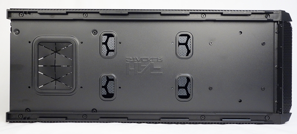 The bottom of the HAF 915R mini-ITX chassis.