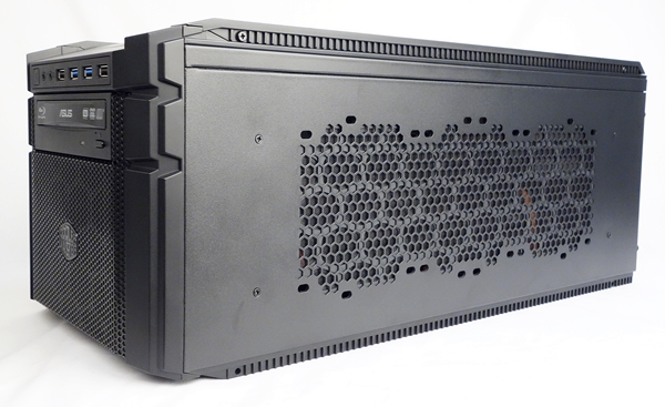 The case has a depth of 560mm, which is much deeper than the average 360mm depth of most mini-ITX chassis.