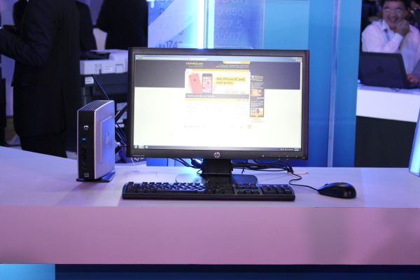 The HP Thin Client is a low-powered PC designed for the FSI sector. It also carries many of HP's security features.