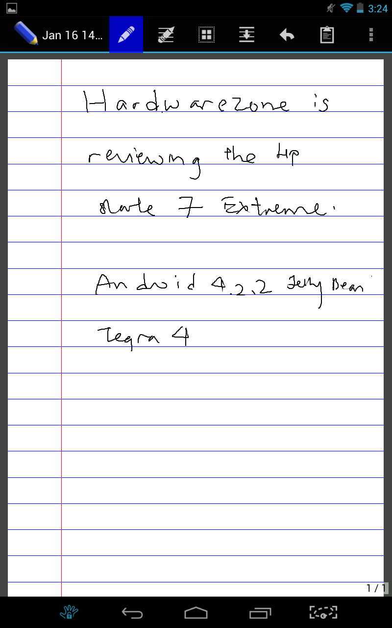 Write tries to mimic the user experience of jotting down notes on a foolscap paper with its horizontal lines.