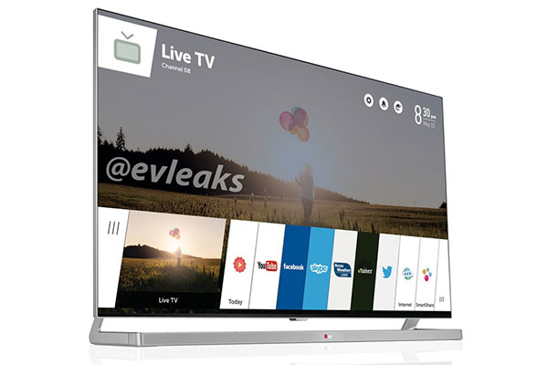 WebOS' card interface lives on, this time on LG's Smart TVs. (Image source: @evleaks.)