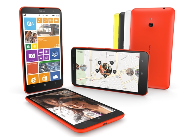 The Nokia Lumia 1320 will be available in four colours – orange, yellow, white, and black. <br>Image source: Nokia