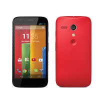Moto G with Red Shell