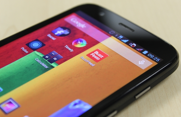 You will not be disappointed by the display quality of the Moto G.