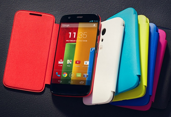 The Flip Shell has a magnetic cover that wakes the display when you open it and puts it to sleep when you close it. (Image source: Motorola.)