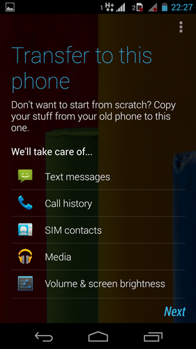 Here are some of the data that Motorola Migrate is able to transfer from your old phone to the Moto G.