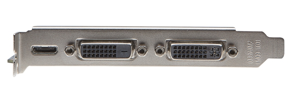For its video connectivity options, there is a pair of dual-link DVI ports, and a mini-HDMI port.