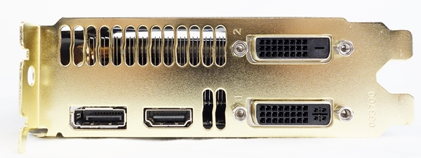 The video connectivity options include two DVI ports, one HDMI port and one DisplayPort output.