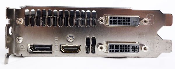 Like a reference NVIDIA GeForce GTX 780 Ti card, the MSI card has two DVI ports, one HDMI port and one DisplayPort output.