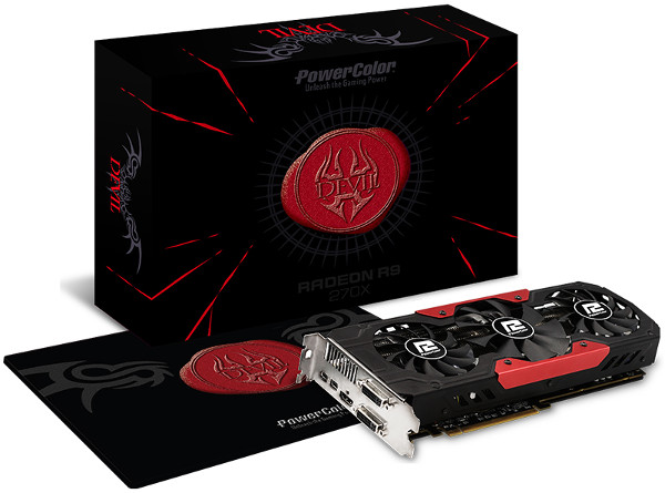 PowerColor Devil R9 270X 2GB GDDR5 Overclocked (Limited Edition Devil Triple Fan)