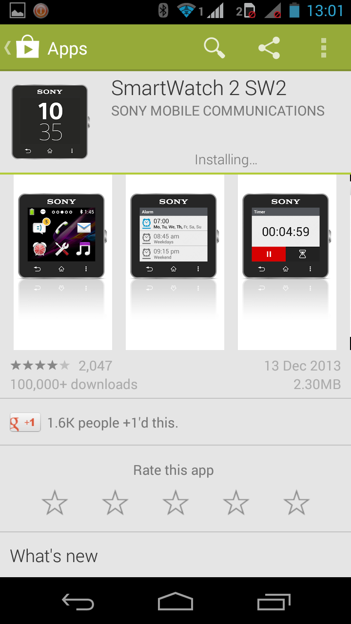 Smart Watch 2 app let you customize the user experience of the device through your Android smartphone.