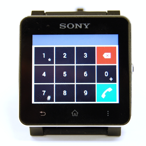 You can dial a number on the Sony Smart Watch 2 and it automatically connects the call on the smartphone.