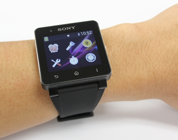 The Sony Smart Watch 2 sits comfortably on our wrist.