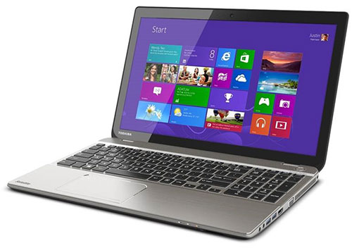 You can't tell from this picture, but this Toshiba Satellite P50t is a 15.6-inch Windows 8.1 notebook with a 4K UHD screen. It'll be available in the middle of the year.