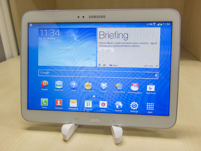 review samsung galaxy tab  inch lte reviewed intel inside