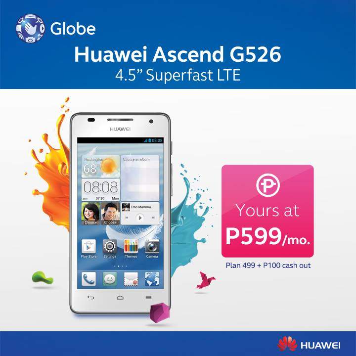 What types of cell phone plans does Globe Telecom offer?
