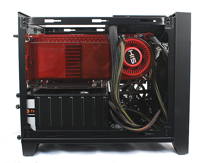 As you can see, we could easily fit a large 11-inch long Radeon HD 3870 X2 graphics card in as well as a 750W PSU.